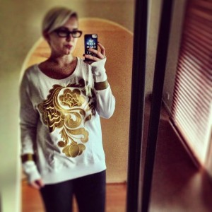 StaffByMaff Golden Flower Sweatshirt