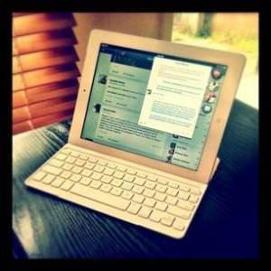 Apple iPad and Logitech Keyboard